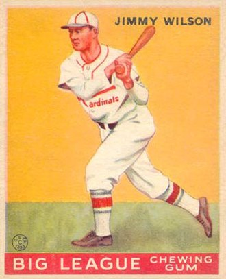 Jimmie Wilson (baseball) - Baseball card of Wilson