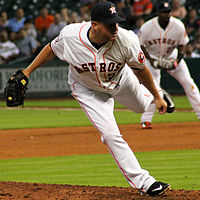 Joe Thatcher Astros followthrough Houston April 2015.jpg