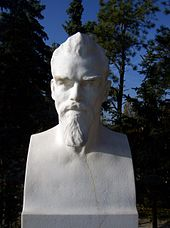 Marmorbüste Max Klinger, Klinger-Grabmal Großjena (1921) (Quelle: Wikimedia)