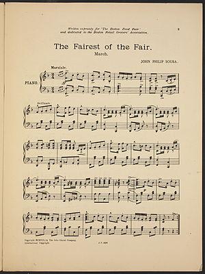 The Fairest of the Fair - Image: John Philip Sousa Fot Fp 2