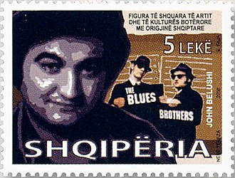 John Belushi - Belushi on a 2008 stamp of Albania