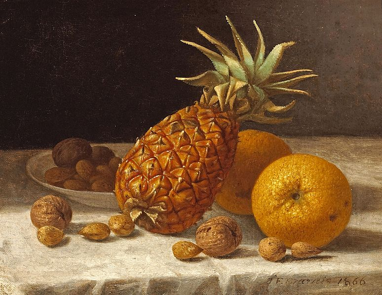 File:John F. Francis - A Still life with Pineapple, Oranges, and Nuts.jpg