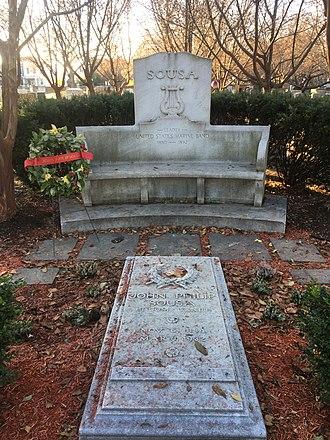 John Philip Sousa - John Philip Sousa's grave, November 2018, Congressional Cemetery