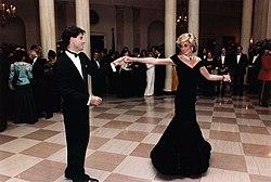 Księżna Walii Diana i John Travolta w 1985 roku