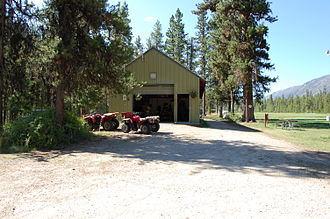 Johnson Creek Airport - The caretaker's quarters at the airport