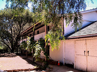 Castro Adobe historic house near Watsonville, California, USA