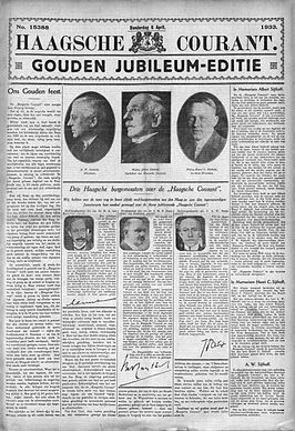 Jubileumeditie 50 jaar Haagsche Courant, 6 april 1933