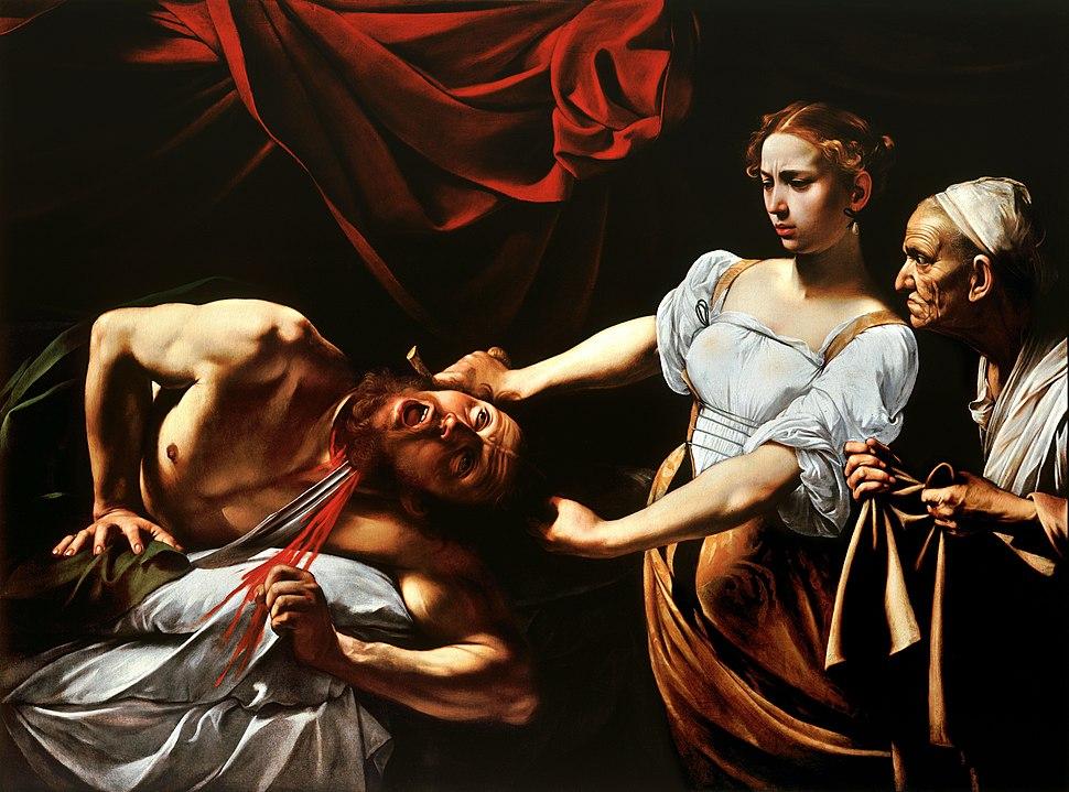 Judith Beheading Holofernes-Caravaggio (c.1598-9)