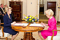 Julie Bishop being sworn in as Foreign Minister by Quentin Bryce 04.jpg