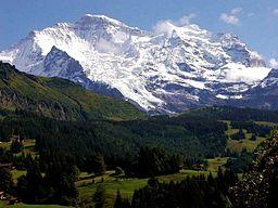 Jungfrau i Berner Oberland i Schweiz