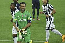 Buffon alla Juventus il 16 settembre 2014, all'esordio stagionale in Champions League contro il Malmö FF