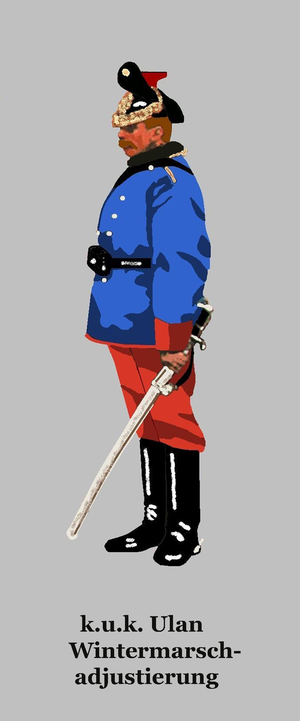 Imperial and Royal Uhlans - Uhlan in winter marching order