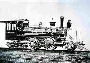NZR K class (1877) - Builders photo of K 88 without tender.