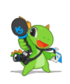 KDE mascot Konqi for journalists.png