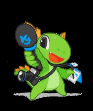 KDE Dot News - Image: KDE mascot Konqi for journalists