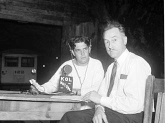 KKOL (AM) - KOL radio broadcast with announcer Dudley Williamson and Seattle City Light Superintendent Eugene Hoffman, 1939