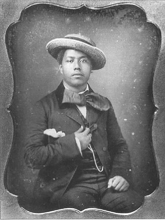 Kalākaua - Kalākaua in his youth, c. 1850.