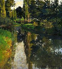 Landscape with a stream.