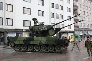 Marksman anti-aircraft system - Finnish Leopard 2 Marksman