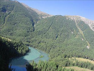 Kanas Lake - Image: Kanas glacier alpine