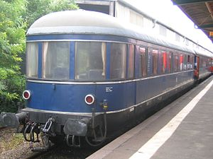 Henschel-Wegmann Train - Observation car of the train running in the opposite direction to the Henschel-Wegmann rake in service with the Blauer Enzian