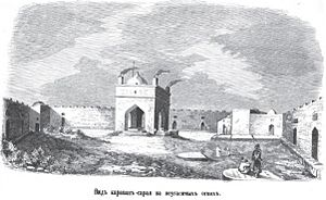 "Ateshgah of Baku - Drawing of the temple from the book ""Journey in Dagestan and the Caucasus"""