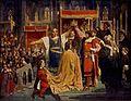 Karel Svoboda (1824-1870) - Korunovace císaře Albrechta II. za krále českého roku 1438.jpg