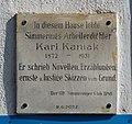 Karl Kaniak memorial plaque, Geiselbergstr. 5, Vienna.jpg