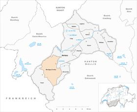 Map of Martigny-Combe