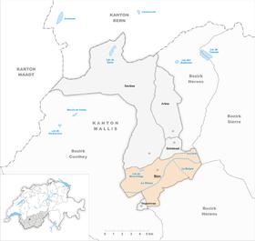 Karte von Sitten