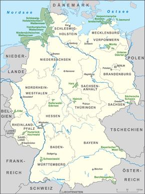 Nationalpark Eifel Karte.Nationalparks In Deutschland Wikipedia