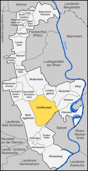 Schifferstadt - Image: Karte Schifferstadt