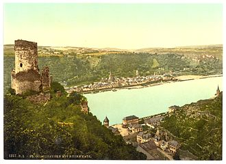Katz Castle - Image: Katz Castle, Goarshausen (i.e., Sankt Goarshausen), the Rhine, Germany LCCN2002714108