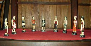 Kayah State - Figurines of 9 the subgroups of the Kayah.