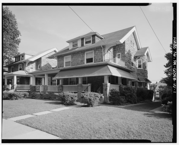 File keasbey and mattison company 2 1 2 story double house side gable roof type 212 218 - Two story gable roof houses ...