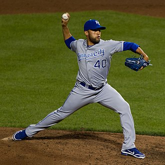 2014 World Series - Kelvin Herrera was the winning pitcher for the Kansas City Royals in Game 2