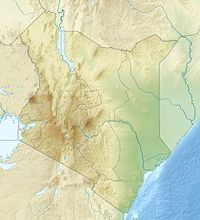 Map showing the location of Mount Kenya National Park