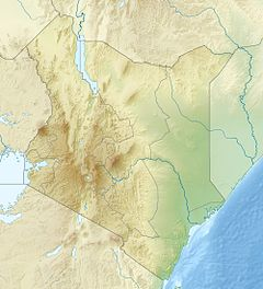 Map showing the location of Samburu National Reserve