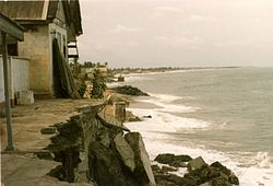 Fort Prinsensten on the beach of Keta in 1985