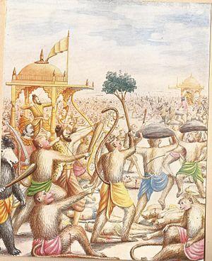 Brahmastra - Killing of Ravana Painting by Balasaheb Pant Pratinidhi
