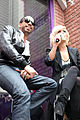 Kimberly Caldwell, Ryan Leslie at Yahoo Yodel 3.jpg