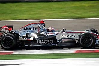 2006 Turkish Grand Prix - Kimi Räikkönen retired early due to collision damage.
