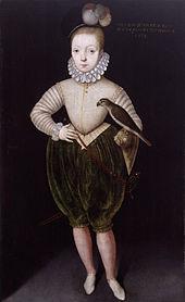 Portræt af jakob som dreng i 1574 af arnold bronckorst