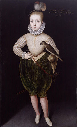 James VI and I - Portrait of James as a boy, after Arnold Bronckorst, 1574. National Portrait Gallery, London.