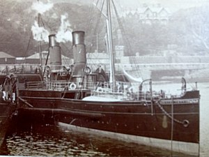 SS King Orry (1871) - King Orry berthed at the Battery Pier, Douglas, Isle of Man.