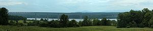 Kingston–Rhinecliff Bridge - Bridge seen from Kingston Point
