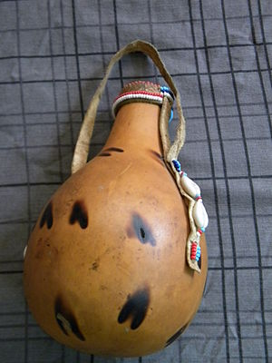 Kipsigis people - Kipsigis gourd (sotet) used for storing sour milk (mursik).