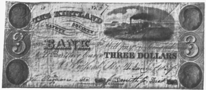 Kirtland Safety Society - Bank note issued by the Kirtland Safety Society in early 1837, after its reorganization.