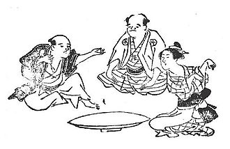 Rock–paper–scissors - Kitsune-ken was a popular Japanese rock–paper–scissors variant. From left to right: The hunter (ryōshi), village head (shōya) and fox (kitsune).