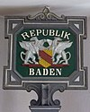 Schild vo de Republik Bade
